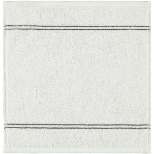 Cawö Carat Borte 580 - Farbe: weiß - 600 Seiflappen 30x30 cm