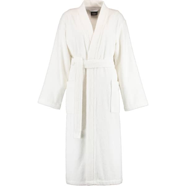 Cawö Home Damen Bademantel Kimono 826 - Farbe: weiß - 67 M