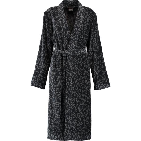 Cawö Damen Bademantel Kimono 2111 - Farbe: schwarz - 97