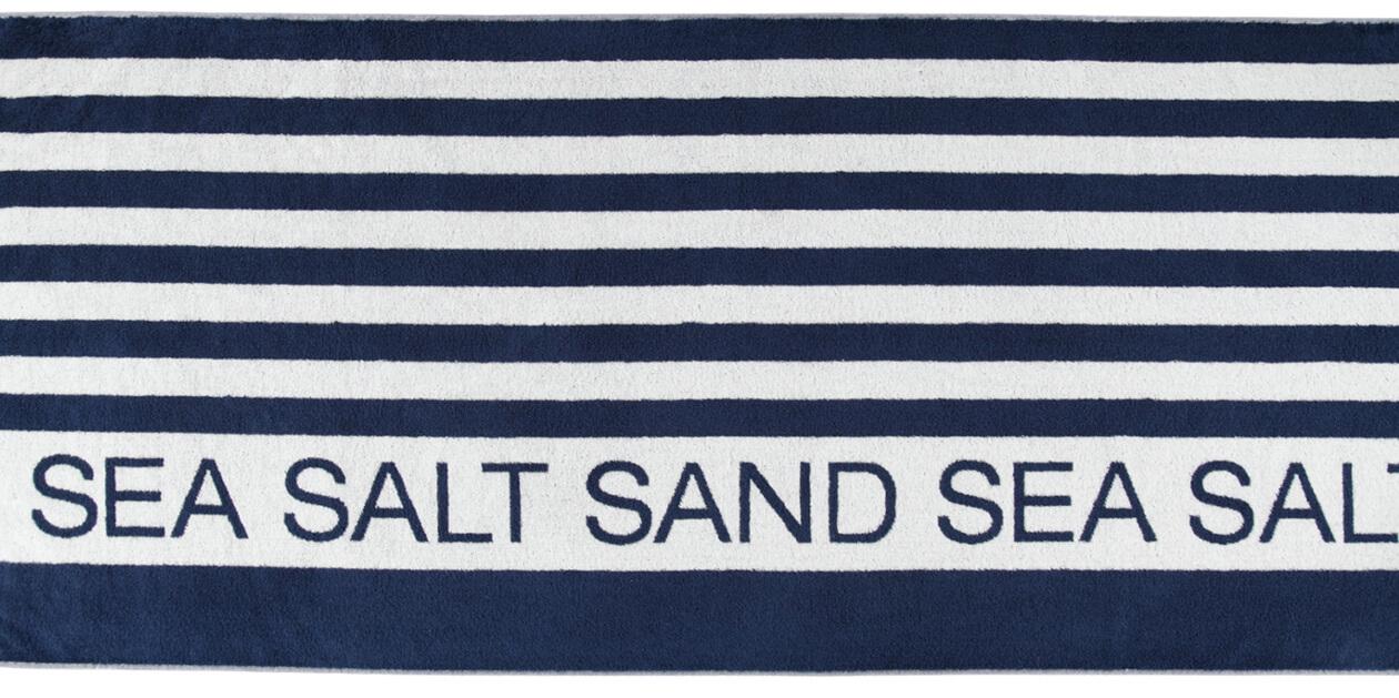 Cawö Saunatuch Sea Salt Sand Streifen 441 - 80x180cm - Farbe: navy-weiß - 16 Detailbild 1