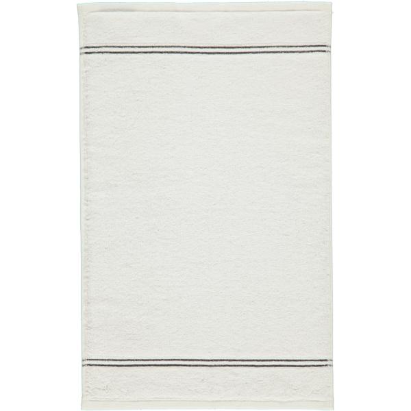 Cawö Carat Borte 580 - Farbe: weiß - 600 Gästetuch 30x50 cm