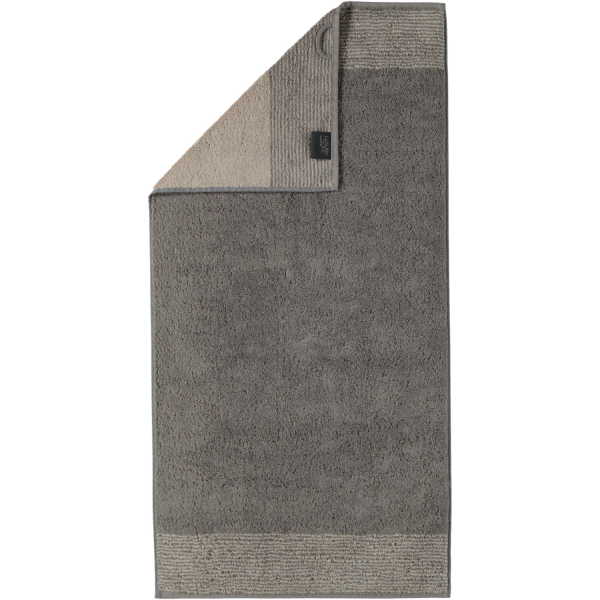 Cawö - Luxury Home Two-Tone 590 - Farbe: graphit - 70 Handtuch 50x100 cm