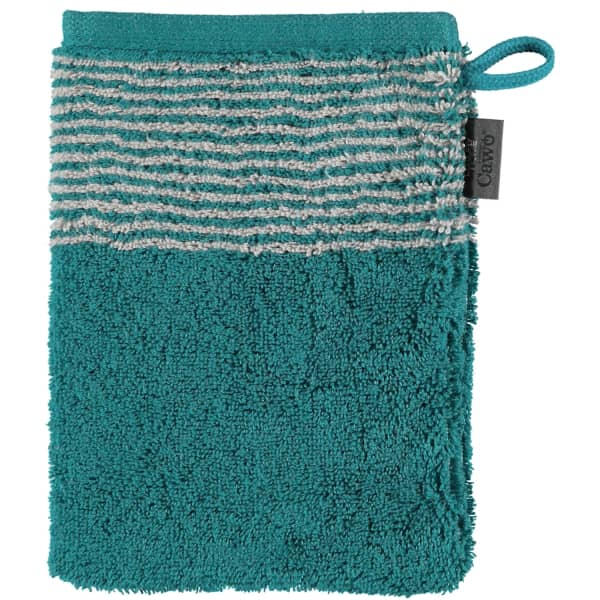 Cawö - Luxury Home Two-Tone 590 - Farbe: smaragd - 44 Waschhandschuh 16x22 cm