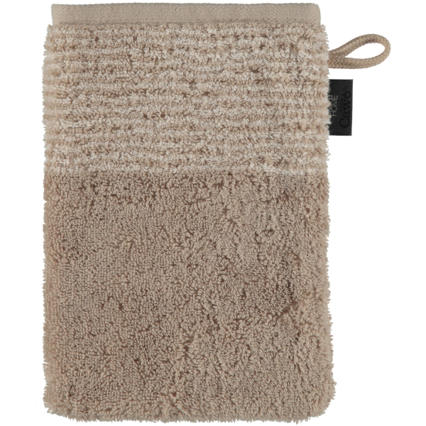 Cawö - Luxury Home Two-Tone 590 - Farbe: sand - 33 Waschhandschuh 16x22 cm
