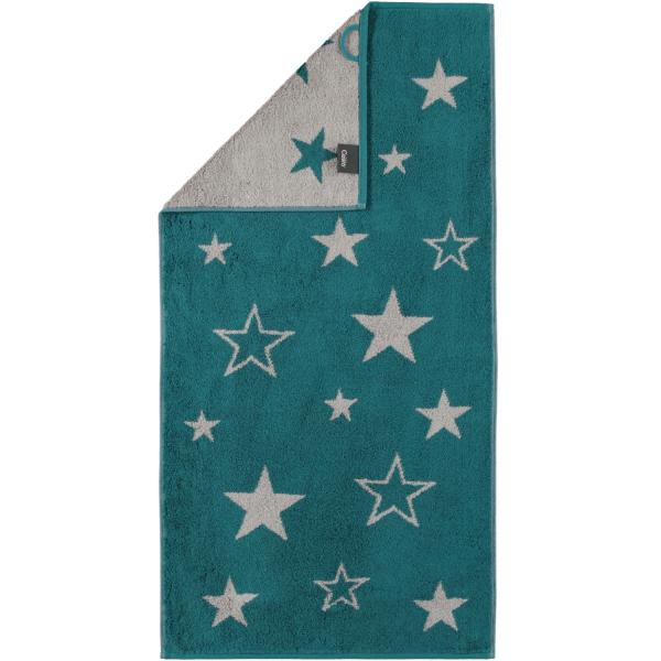 Cawö Christmas Edition Sterne 928 - Farbe: smaragd - 44 Handtuch 50x100 cm