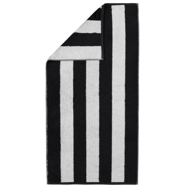 Cawö Zoom Blockstreifen 120 - Farbe: schwarz - 97 Handtuch 50x100 cm