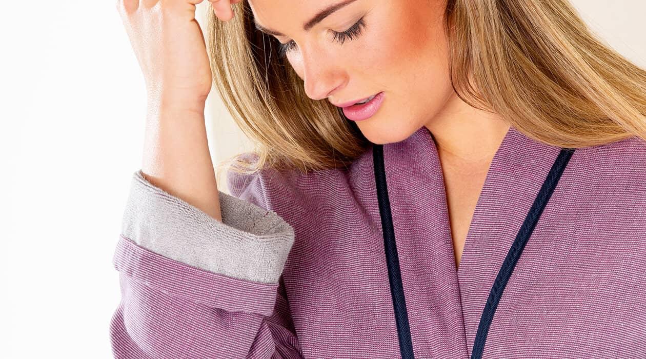 Cawö Damen Bademantel Kimono 6122 - Farbe: türkis - 41 XS Detailbild 3