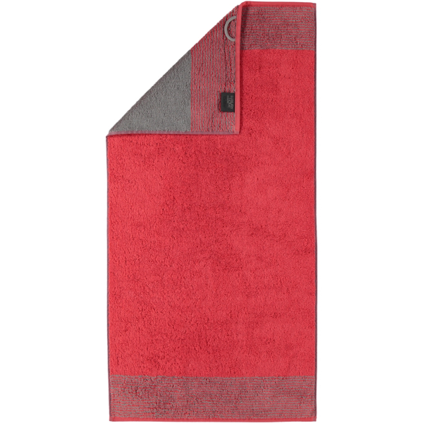 Cawö - Luxury Home Two-Tone 590 - Farbe: rot - 27 Handtuch 50x100 cm