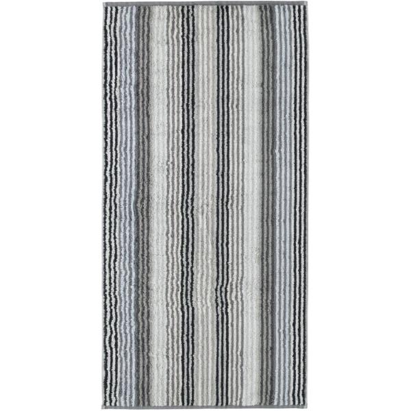Cawö - Unique Streifen 944 - Farbe: anthrazit - 77 Handtuch 50x100 cm