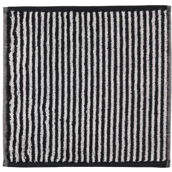 Cawö Zoom Streifen 121 - Farbe: schwarz - 97 Seiflappen 30x30 cm