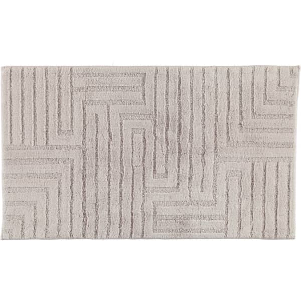 Cawö Home - Badteppich Struktur 1004 - Farbe: silber - 775 70x120 cm