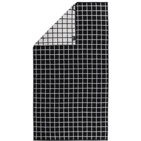 Cawö Zoom Karo 123 - Farbe: schwarz - 97 Duschtuch 70x140 cm