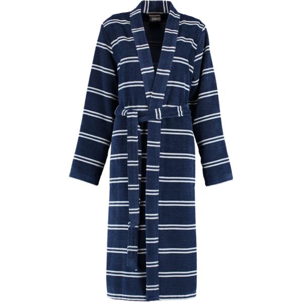 Cawö - Damen Bademantel Kimono 1237 - Farbe: navy - 16 S