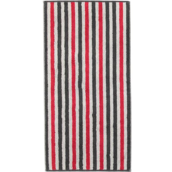 Cawö Tape Streifen 103 - Farbe: anthrazit-rot - 27 Handtuch 50x100 cm