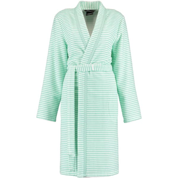 Cawö - Damen Bademantel Kurz Kimono 1214 - Farbe: mint - 46