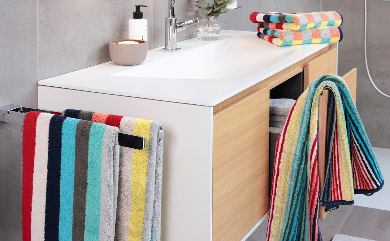Cawö Splash Blockstreifen 997 - Farbe: multicolor - 12 Handtuch 50x100 cm Detailbild 1
