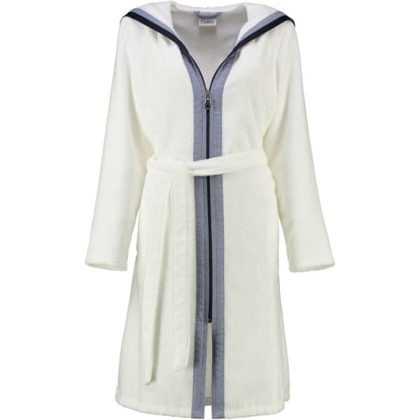 Cawö - Damen Kurzmantel Reißverschluss Kapuze Breton 6598 - Farbe: weiß - 600 L