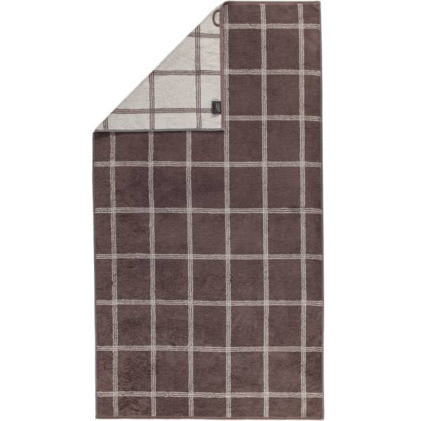 Cawö - Luxury Home Two-Tone Grafik 604 - Farbe: pepper - 37 Duschtuch 80x150 cm