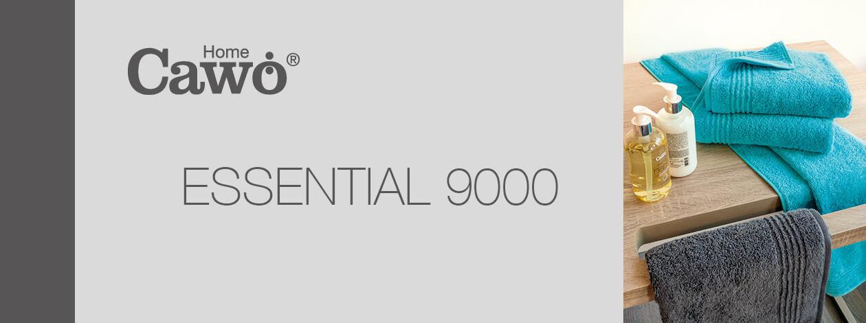 Cawö Essential Uni 9000 - Farbe: anthrazit - 774 Handtuch 50x100 cm Detailbild 2