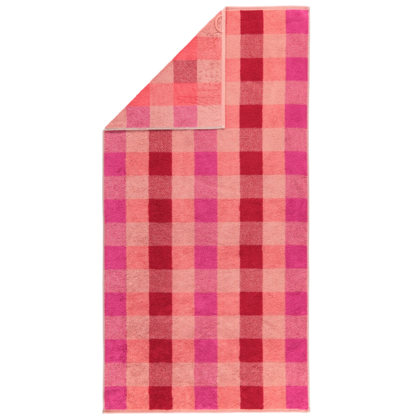 Cawö Check 770 - Farbe: rouge - 22 Duschtuch 70x140 cm