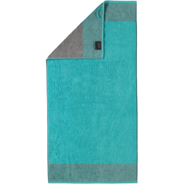 Cawö - Luxury Home Two-Tone 590 - Farbe: türkis - 47 Handtuch 50x100 cm