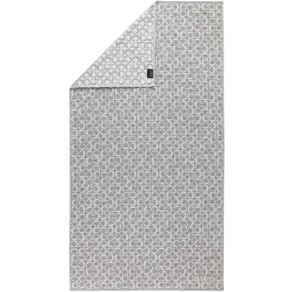 Cawö - Luxury Home Two-Tone C-Allover 605 - Farbe: platin - 76 Duschtuch 80x150 cm
