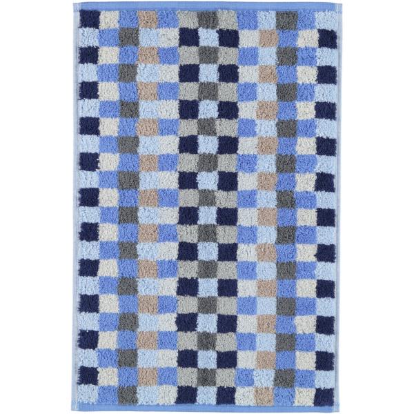 Cawö - Unique Karo 942 - Farbe: saphir - 11 Gästetuch 30x50 cm