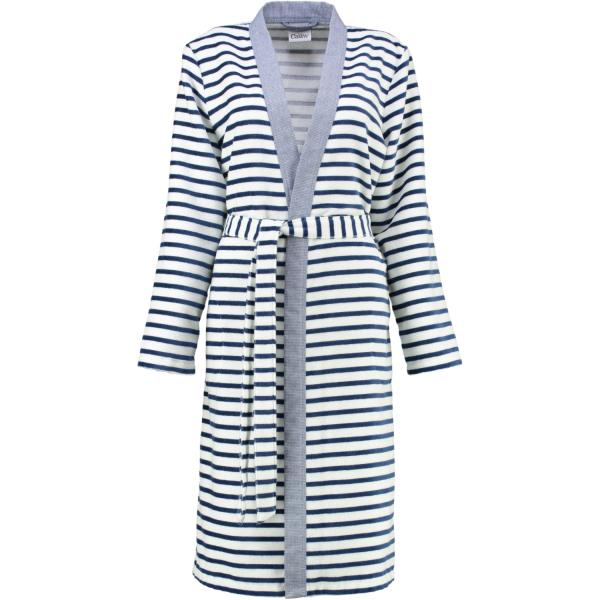 Cawö - Damen Bademantel Kimono Breton 6595 - Farbe: navy - 16 XS