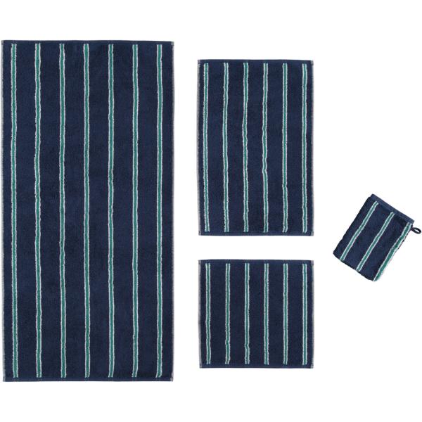 Cawö Polo Streifen 365 - Farbe: navy - 14