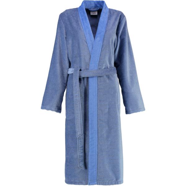 Cawö - Damen Bademantel Two-Tone Kimono 6431 - Farbe: blau - 17 S