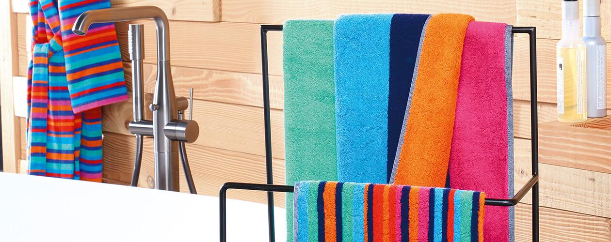 Cawö - Art Streifen 146 - Farbe: multicolor - 12 Handtuch 50x100 cm Detailbild 1