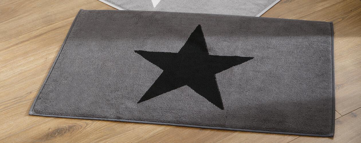 Cawö Badematte Stars 524 - Farbe: anthrazit - 90 Detailbild 1