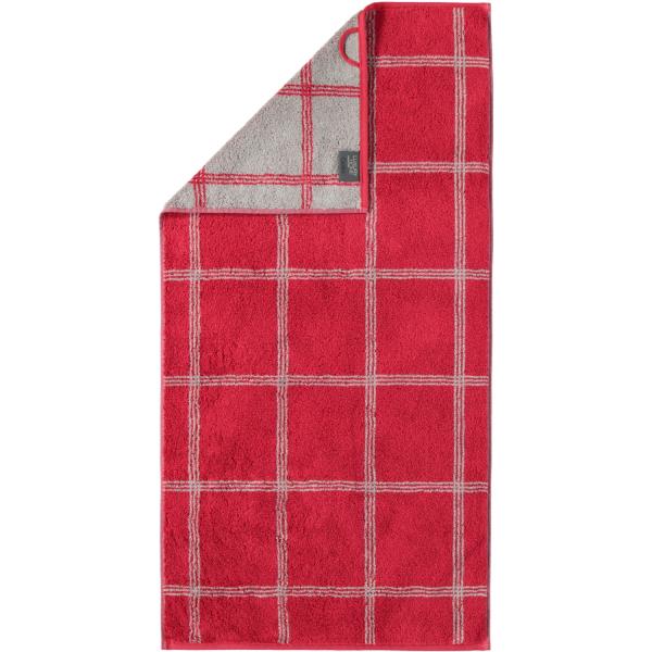 Cawö - Luxury Home Two-Tone Grafik 604 - Farbe: bordeaux - 22 Handtuch 50x100 cm