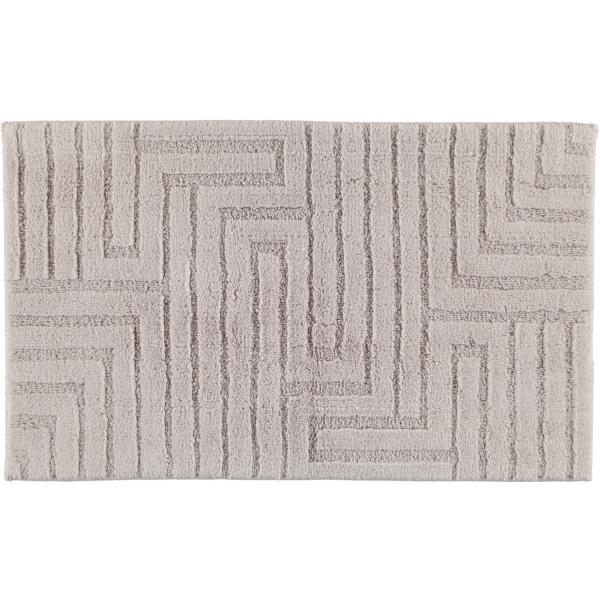 Cawö Home - Badteppich Struktur 1004 - Farbe: silber - 775 60x100 cm