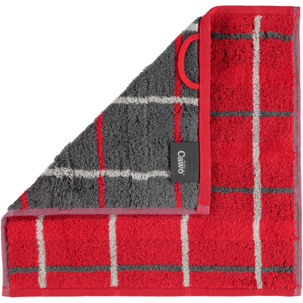 Cawö - Noblesse Square 1079 - Farbe: rot - 27 Seiflappen 30x30 cm