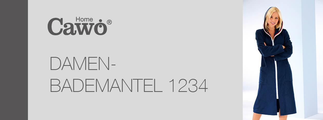 Cawö Damen Bademantel Kapuze 1234 RV - Farbe: weiß - 600 M Detailbild 2