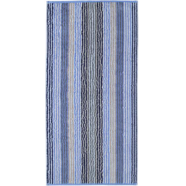 Cawö - Unique Streifen 944 - Farbe: saphir - 11 Handtuch 50x100 cm
