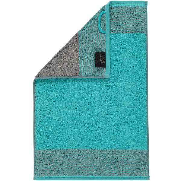 Cawö - Luxury Home Two-Tone 590 - Farbe: türkis - 47 Gästetuch 30x50 cm