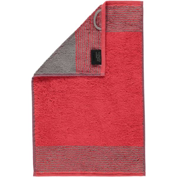 Cawö - Luxury Home Two-Tone 590 - Farbe: rot - 27 Gästetuch 30x50 cm