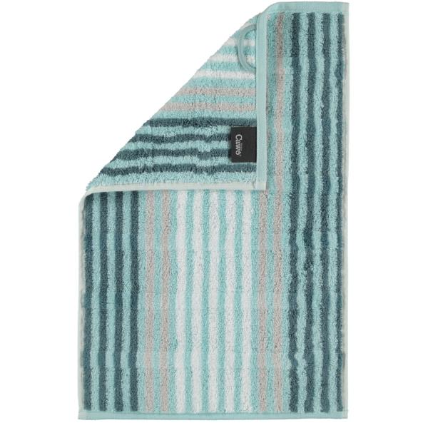 Cawö Noblesse Seasons Streifen 1083 - Farbe: mint - 44 Gästetuch 30x50 cm