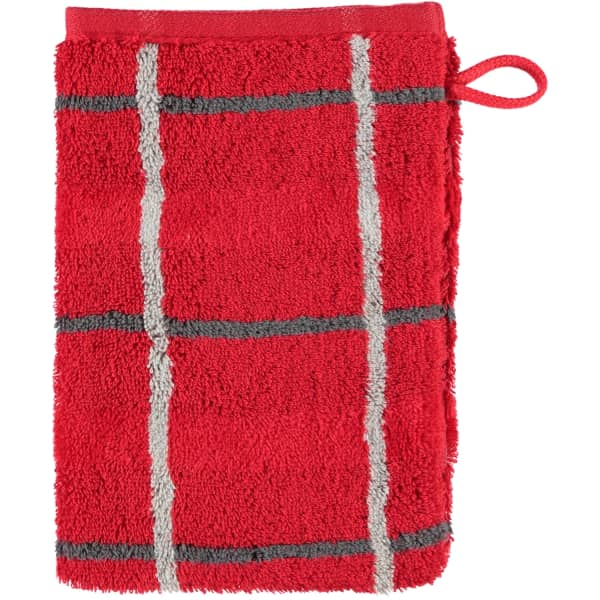 Cawö - Noblesse Square 1079 - Farbe: rot - 27 Waschhandschuh 16x22 cm