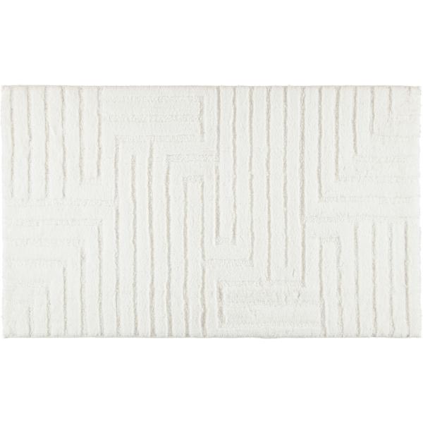 Cawö Home - Badteppich Struktur 1004 - Farbe: weiß - 600 70x120 cm
