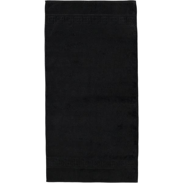 Cawö - Noblesse Uni 1001 - Farbe: schwarz - 906 Handtuch 50x100 cm