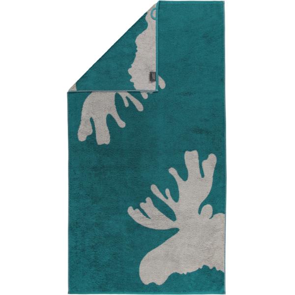 Cawö Christmas Edition Elch 927 - Farbe: smaragd - 44 Duschtuch 80x150 cm