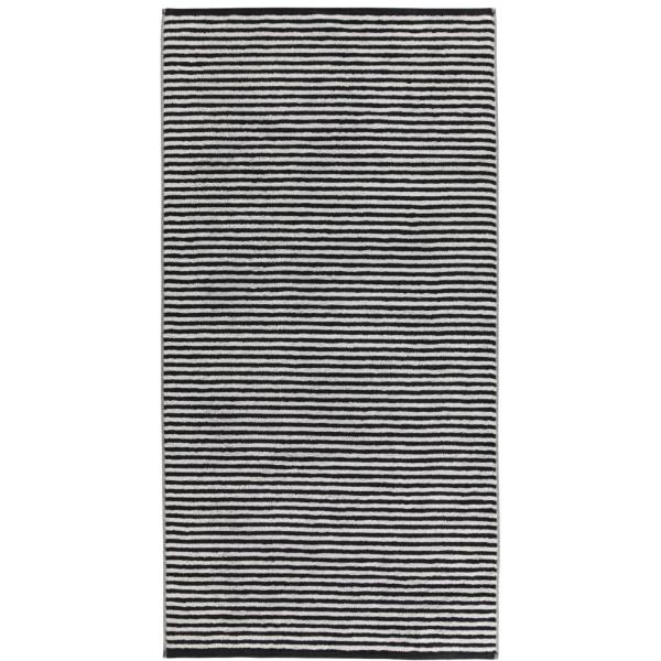 Cawö - Campus Ringel 955 - Farbe: schwarz - 97 Duschtuch 70x140 cm