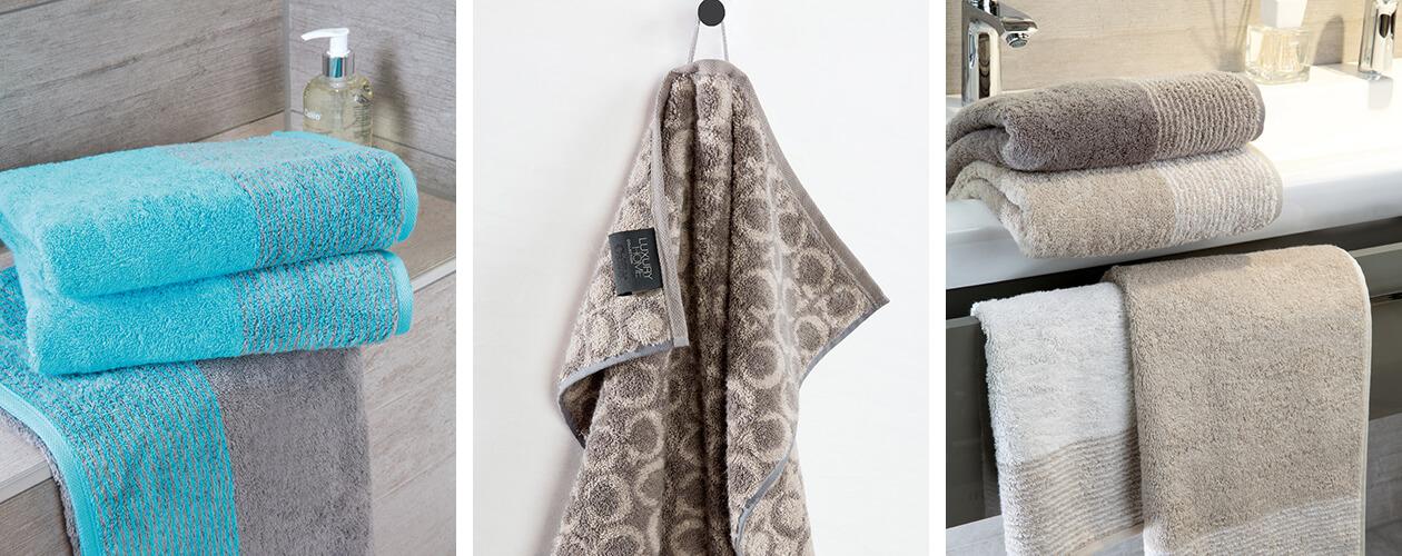 Cawö - Luxury Home Two-Tone Grafik 604 - Farbe: sand - 33 Handtuch 50x100 cm Detailbild 1