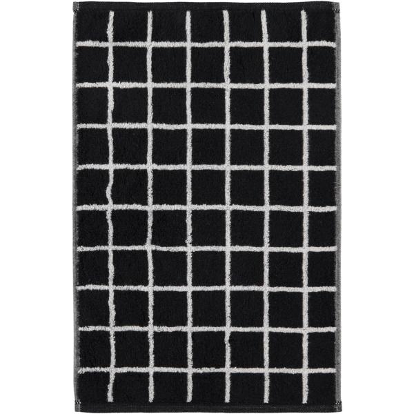 Cawö Zoom Karo 123 - Farbe: schwarz - 97 Gästetuch 30x50 cm