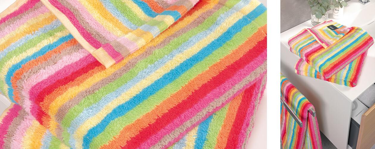 Cawö - Life Style Streifen 7008 - Farbe: 25 - multicolor Seiflappen 30x30 cm Detailbild 1