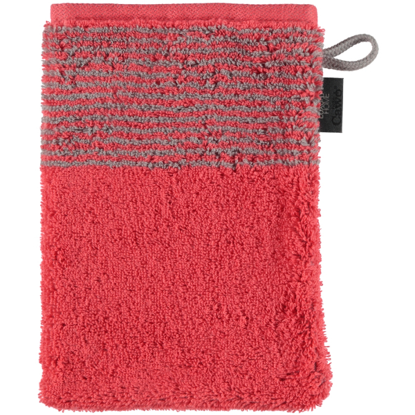 Cawö - Luxury Home Two-Tone 590 - Farbe: rot - 27 Waschhandschuh 16x22 cm