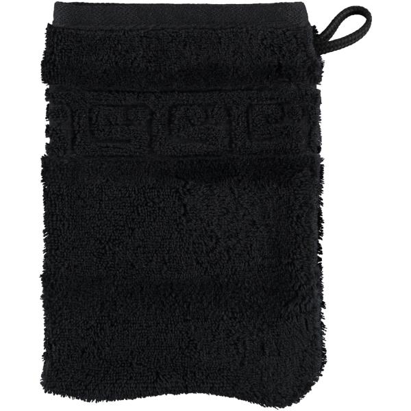 Cawö - Noblesse Uni 1001 - Farbe: schwarz - 906 Waschhandschuh 16x22 cm